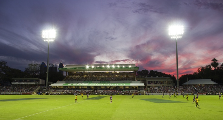 Skyline at NIB Stadium during a Perth Glory game. #gottagowa