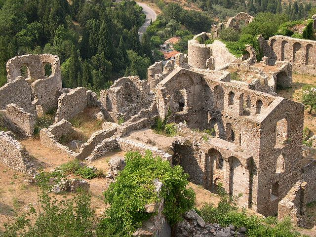 Mystras, Sparta, Greece. A UNESCO World Heritage Site