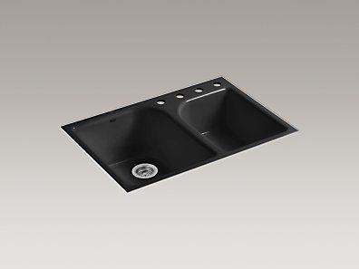 Kohler Cast Iron Kitchen Sinks High Low