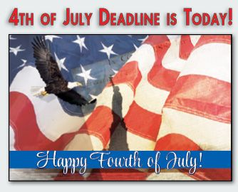Real estate postcards 4th of july