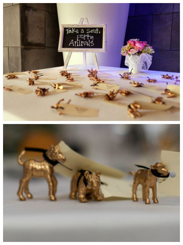 Party animal escort cards