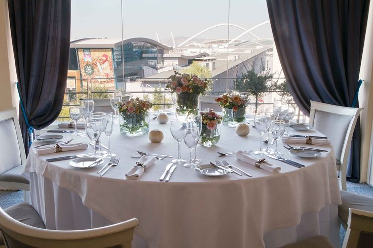 A setting with a beautiful view over the city!  #OlympicAthens #weddings #receptions