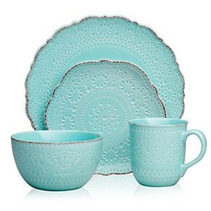 Pfaltzgraff Marseilles Stoneware Dinnerware Teal 16