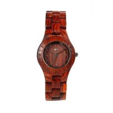 Women's wooden Moon watch in brown from WeWood $115
