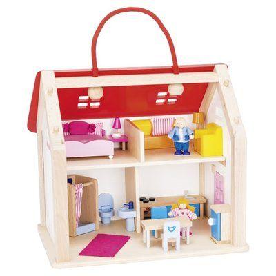 GOKI Koffer-Puppenhaus mit Zubehör