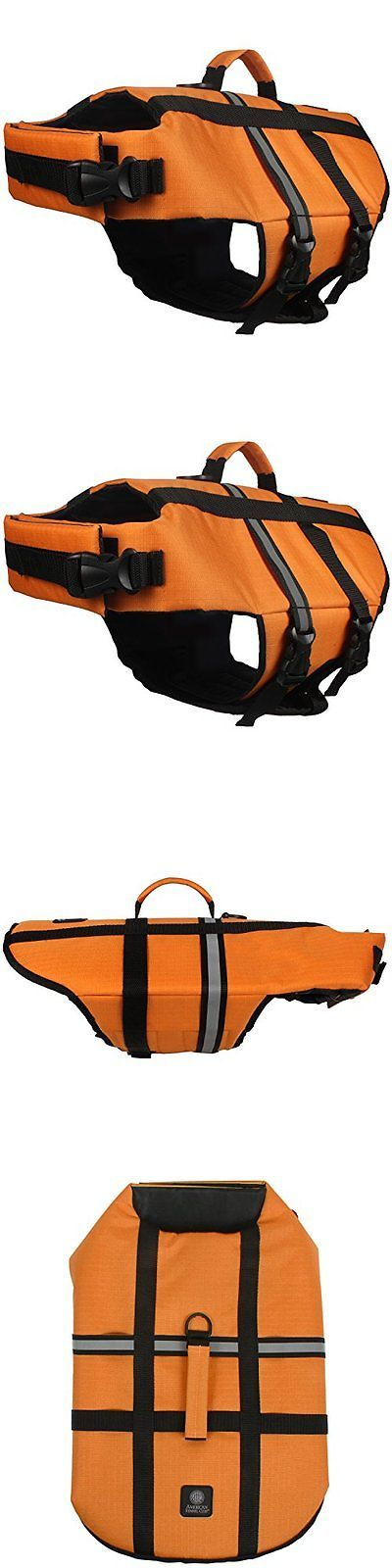 Safety Vests and Life Preservers 117427: American Kennel Club Pet Flotation Life Vest - Orange Xl BUY IT NOW ONLY: $47.04