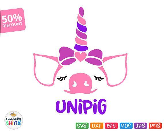 Little Piggy Unicorn Svg Girl Shirt Pig Image for Cricut
