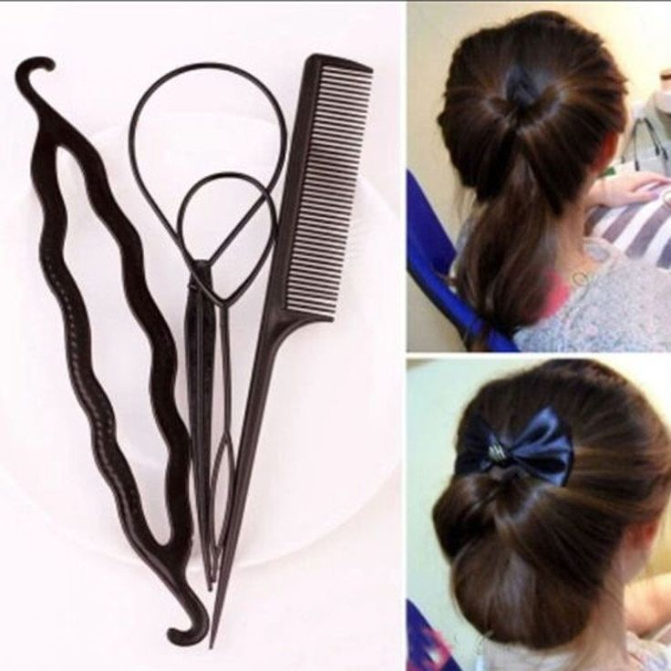Hot Useful Women Girl Volume Inserts Hair Clip Bumpits Bouffant Ponytail Hair Comb Style Maker Headban Bouffant Hair Hair Bun Maker Braided Ponytail Hairstyles