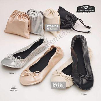 Bailarinas Enrollables 3 colores con bolsa