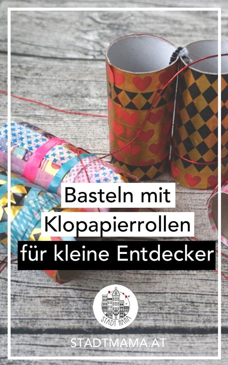 Basteln mit Klopapierrollen. So könnt ihr aus Material, dass ihr sicher zu Hause habt Spielideen für kleine Entdecker basteln. #bastelnmitkindern #basteln #diy #diyidee #mamablog #kinder #mamablogger_at #mamablogger_de