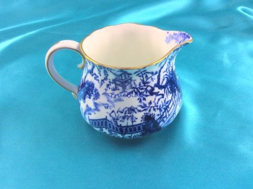 1914-Mikado-Creamer-Royal-Crown-Derby-in-Top-Quality-Vibrant-Blue-Doulton