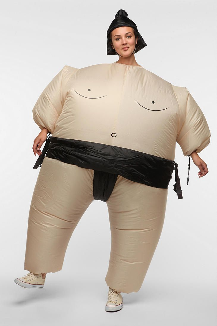 There is no way I would only wear this just on Halloween. This would so be my new pajamas.  -Inflatable Sumo Wrestler Costume