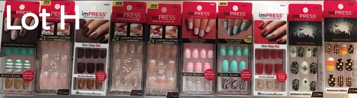 Press-On Nails: 10 Packs, Kiss Impress Manicure Press On Nails, Different Assorted Designs! Loth -> BUY IT NOW ONLY: $64.95 on eBay!