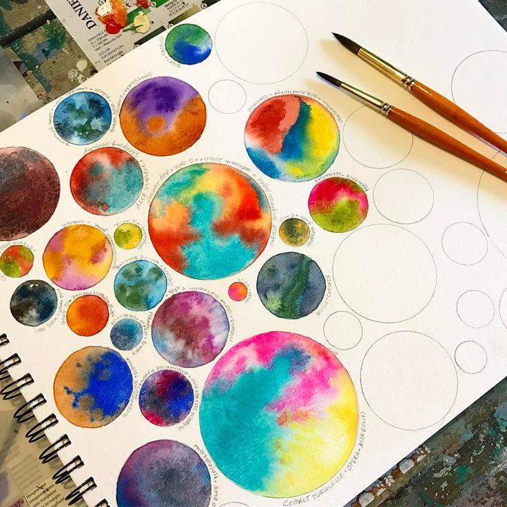 Gabi Gies watercolor bullet journal artsy stress…