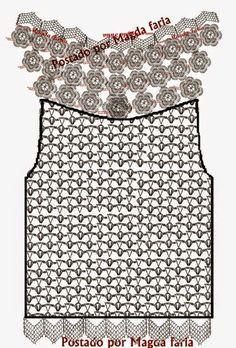 Blusa de crochê com pala de flores  http://www.liveinternet.ru/users/ekatusha/post211056311/ COMO FAZER BLUSAS DE CROCHE    fontes pinterest e liveinternetBLUSA DE CROCHE COM MANGAS, BLUSA DE CROCHÊ, BLUSA DE CROCHÊ  COM PALA  DE FLORES, BLUSAS, BLUSA ARIANE,