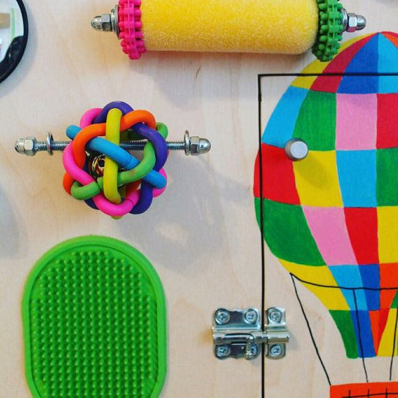 Busy Board Balloons Activity Board Sensory от Woodledoodleshop