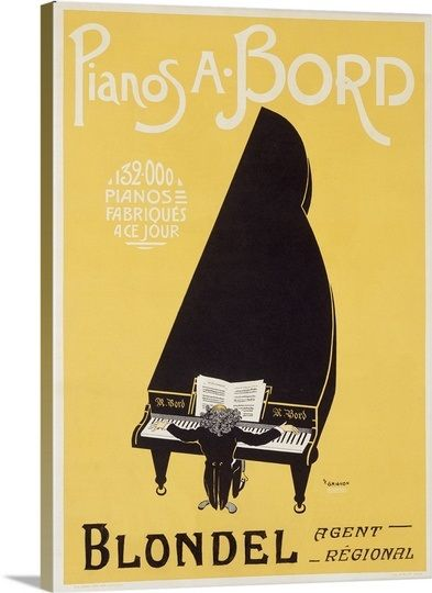 Pianos A. Bord, Vintage Poster, by P.F. Grignon