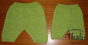 Les pantalons pour les prématurés