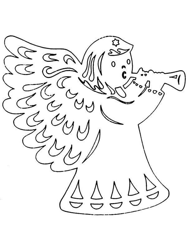 andílek vánoční vystřihovánka