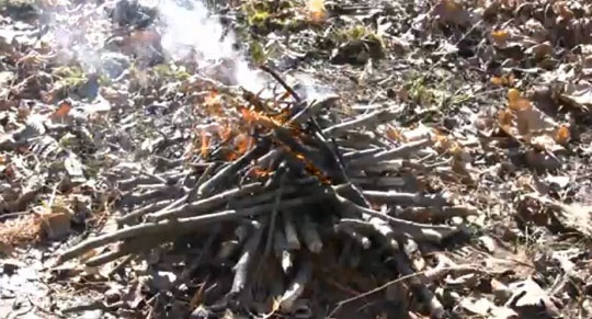 how to build upside down fire