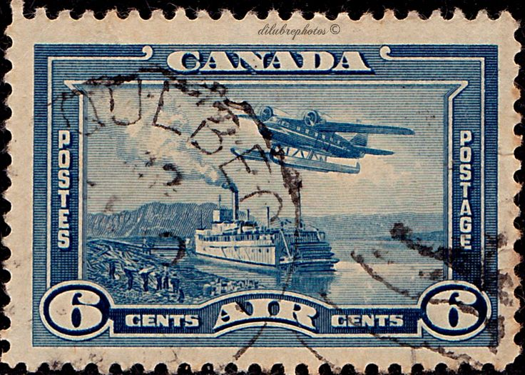 Canada.  Mackenzie River Steamer and Seaplane.  Scott C6 AP4, Issued 1938 June 15,  6c. /ldb.