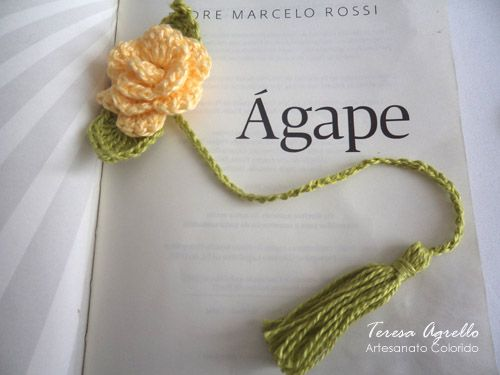 Marca-página de crochê