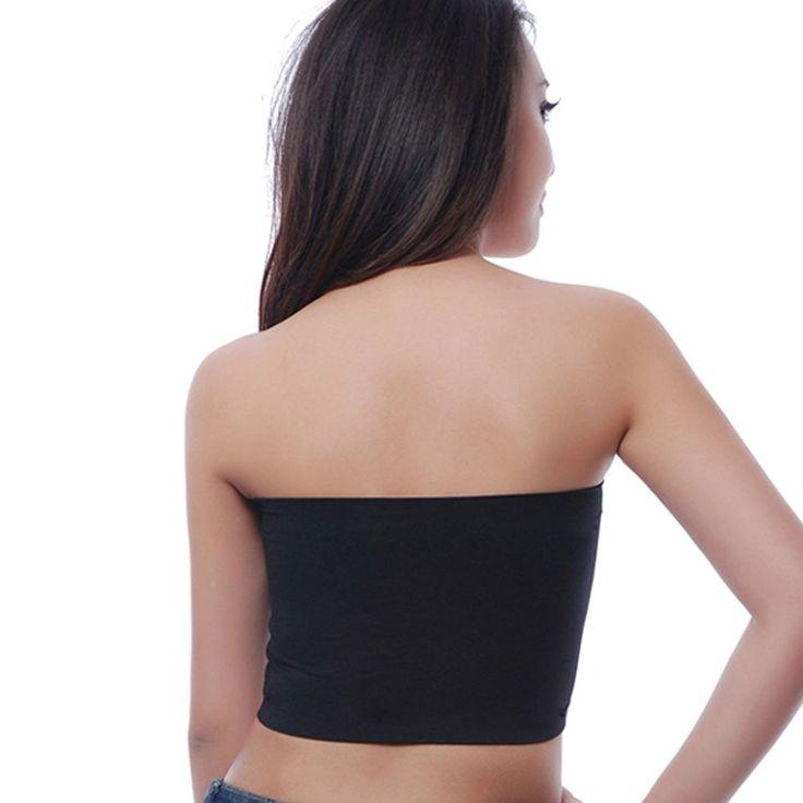 Fashion Bra Tube Underwear For WOmen Sexy Black Bandeau Top Crop Bra Brand Intimates Clothes LB