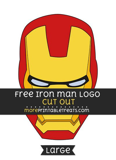 Free Iron Man Logo Cut Out Large Size Printable