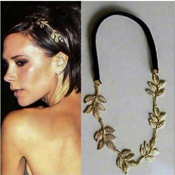 Beautiful gold leaf headband