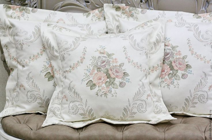 Купить Пастельный букет - бежевый, подушка, подушка на диван, уют, уютный дом, уют в доме