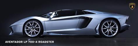 """Lamborghini Aventador LP700-4 Roadster wall poster art print affiliate  36"""" x 12"""""""