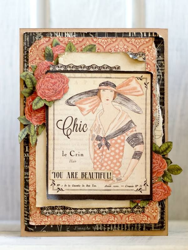 Nataliya Serova made this gorgeous card and shared on our Facebook page…