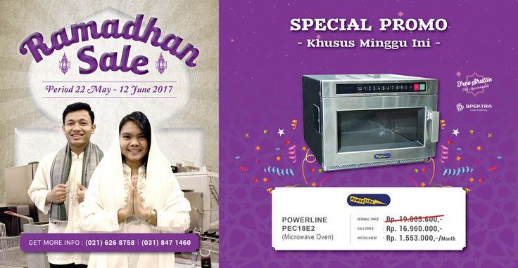 Dapatkan harga special untuk Powerline Microwave Oven khusus minggu ini saja, jangan sampai kelewatan ya! #ramadhansale #powerline
