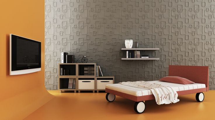 """A child's room artistically designed with an """"Olina"""" feature wall."""