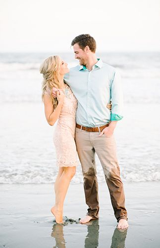 Glamorous City to Beach Charleston Engagement Session - Inspired by This