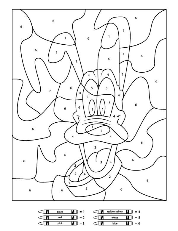 Free Disney Color By Number Printables Disney Coloring Pages