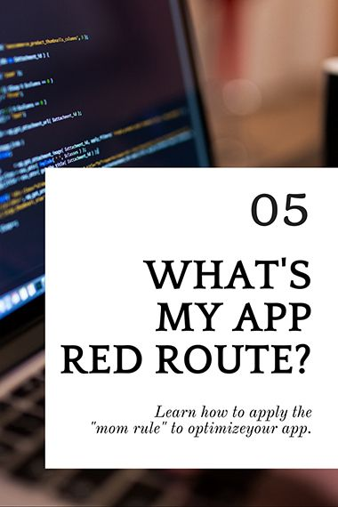 What's my app red route? #app #building #tips