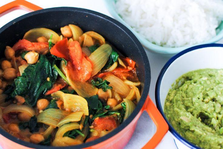 caril de grão e espinafres | chickpeas and spinach curry