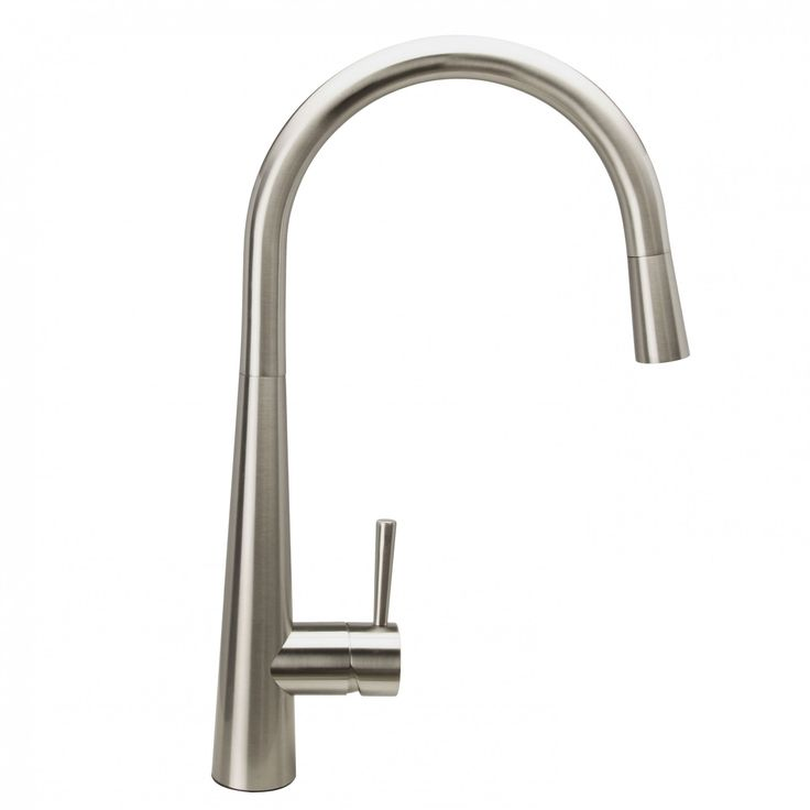 Pull Out Spray Kitchen Mixer Tap | Brushed Steel - Soak.com