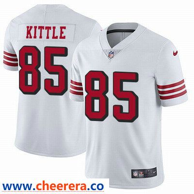 Nike San Francisco 49ers  85 George Kittle White Rush Men s Stitched NFL Vapor  Untouchable Limited Jersey 8a5918bad