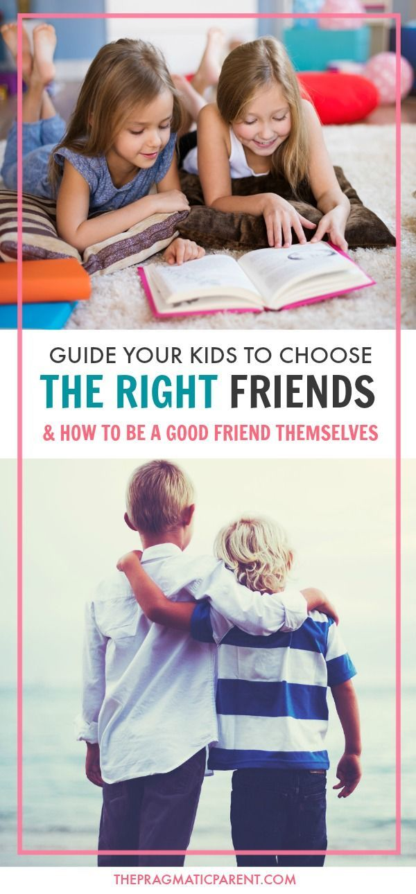 Help Your Kids Choose the Right Friends and Learn How to be a Good Friend Themselves. Meaningful and Positive Relationships Start with a Parent's Guidance In Teaching Their Children About Positive Communication, Handling Disagreements, Loyalty and Support in Good Times and Bad. via @https://www.pinterest.com/PragmaticParent/