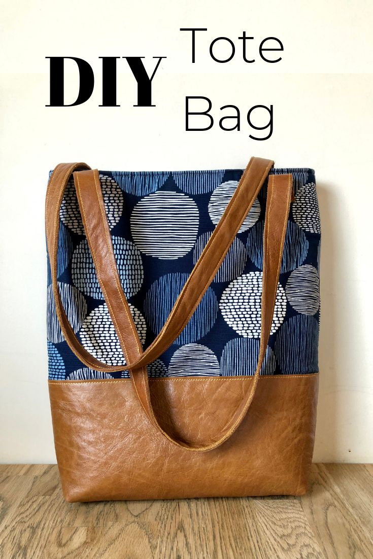 DIY tote bag with tablet pocket