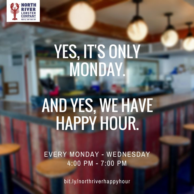 Let's share in the agony that is Monday. Join us for #happyhour from 4 - 7! #sawtheclaw #nycafterwork #workhardplayharder