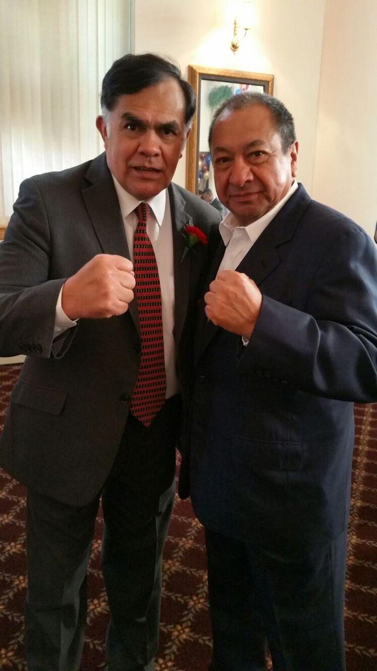 Pipino Cuevas y Alberto Reyes, Hall of Fame 2016. #CletoReyes #PipinoCuevas #HallOfFame #Boxing