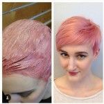 chic short pink pixie cut for fine thin hair
