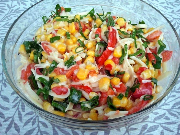 Domowa Cukierenka - Domowa Kuchnia: sałatka z papryki konserwowej