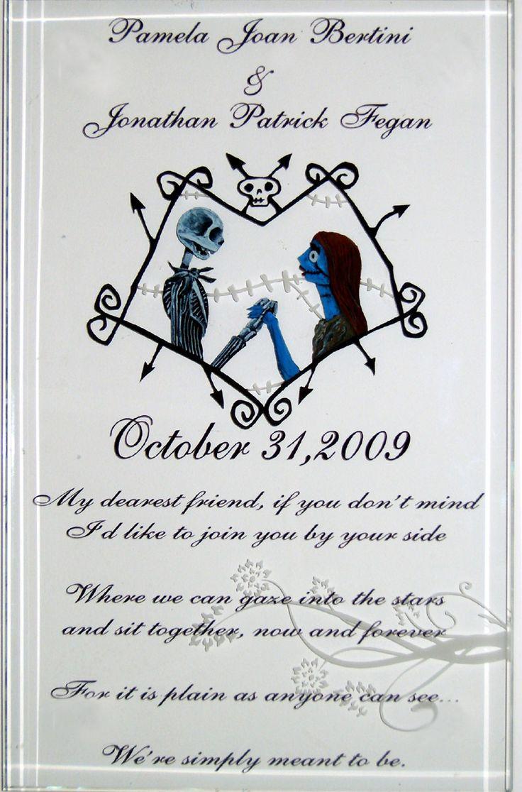 "wedding invites jack and sally | jack and sally"" - wedding"