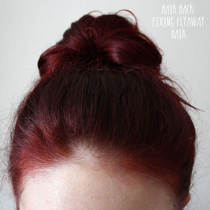 Hair Hack: Fixing Flyaway Hair #beauty #beautyblogger #beautyblog #bblogger #bblog #hair #bob #shorthair #hairstyle