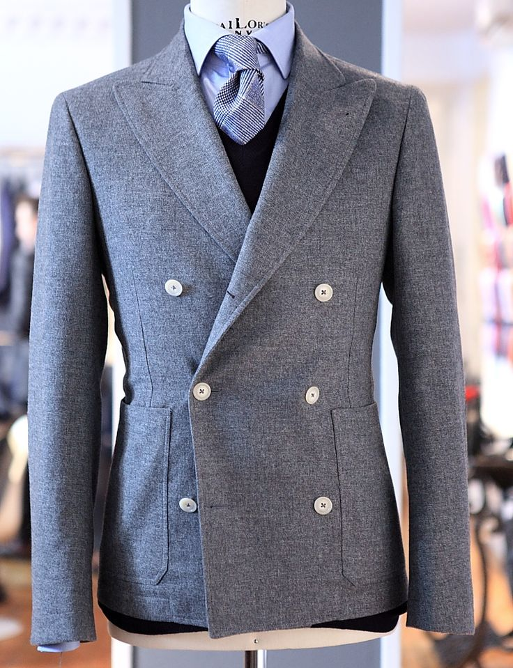 Rob Grace Style Report: beautiful double breasted blazer here.