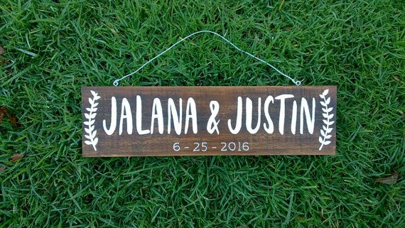 Hey, I found this really awesome Etsy listing at https://www.etsy.com/au/listing/290537597/personalized-name-sign-couple-wedding